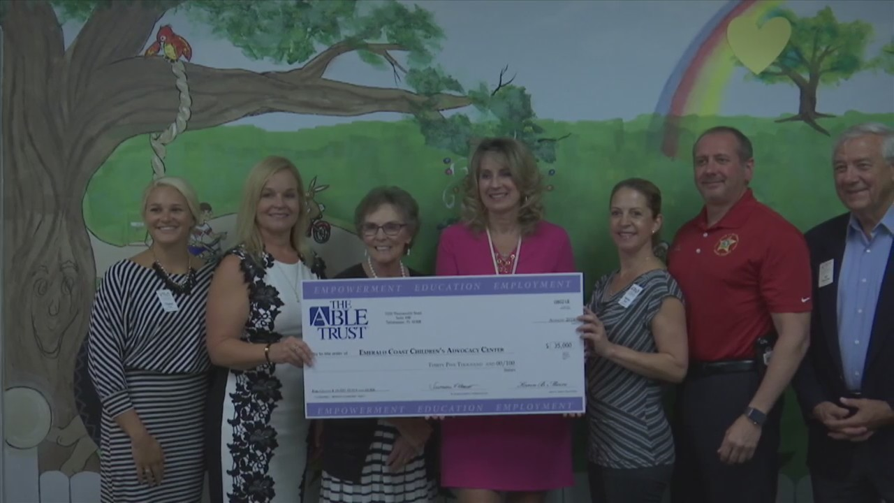 A Generous $35,000 Check Was Gifted to the Emerald Coast Children's Advocacy Center