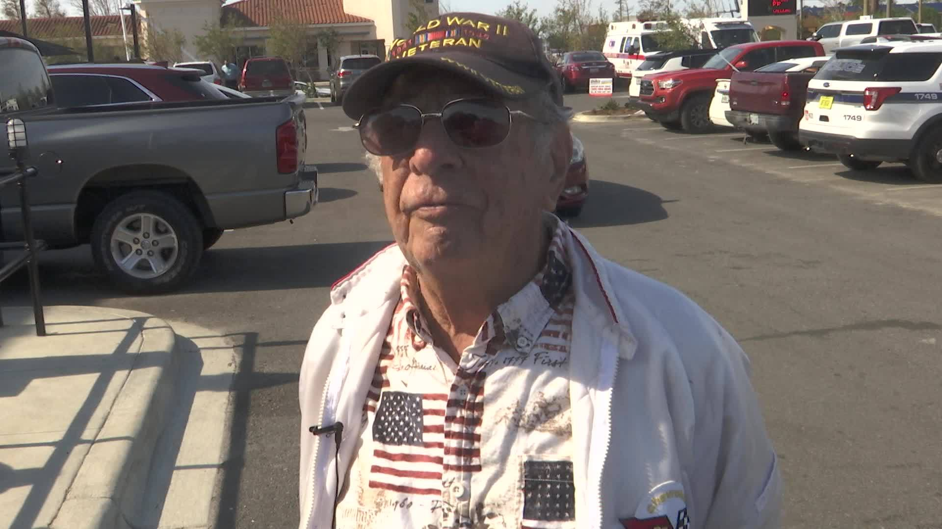 WWII Veteran Speaks About his Traditions on Veteran's Day