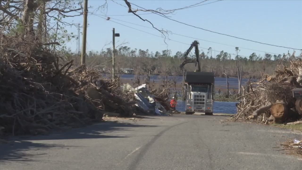 Bay County Small Debris as Clean Up Continues