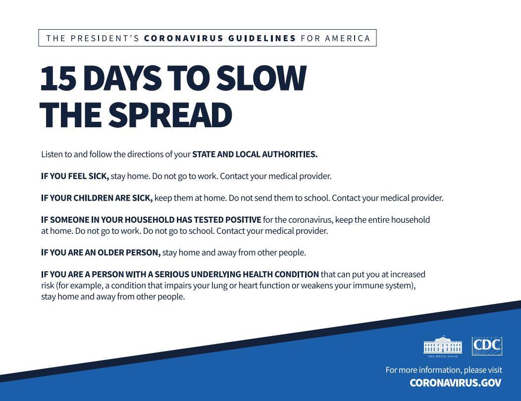 White House: 15 days to slow the spread - WMBB ...