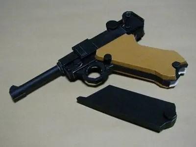 Gun Papercraft Luger P08 My Paper Craft