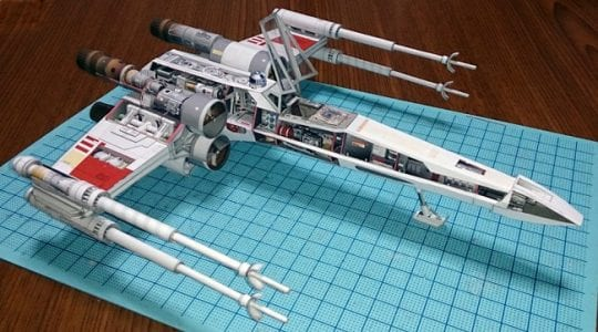 Star Wars X-Wing paper craft - My Paper Craft