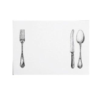 12 Kunststoff-Tischset sur la table weiss