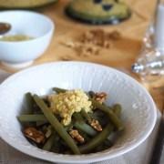 salade de haricots verts sauce aux œufs durs