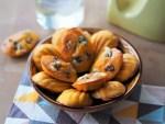 Madeleines à la Fourme d'Ambert, potiron et noix