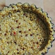 pâte à tarte au quinoa en deux ingrédients sans gluten