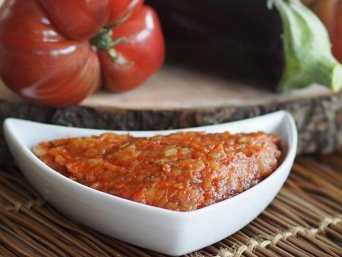 sauce tomate à l'aubergine express