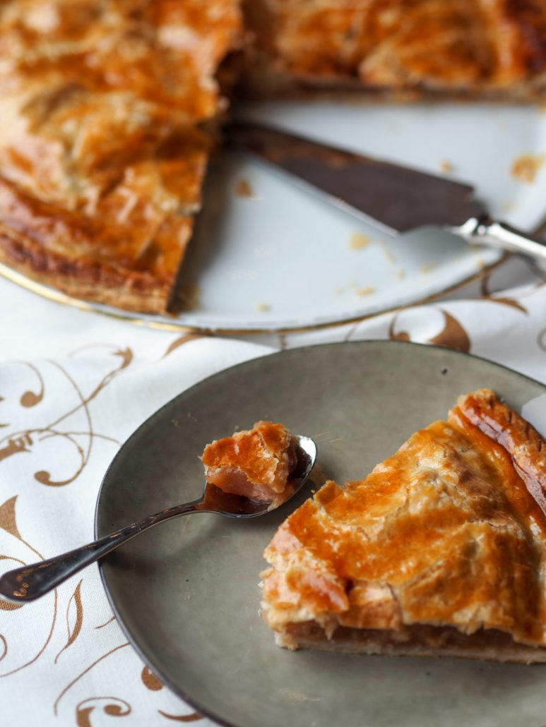 Epiphaniy - French Galette des Rois King Cake with Apple Filling