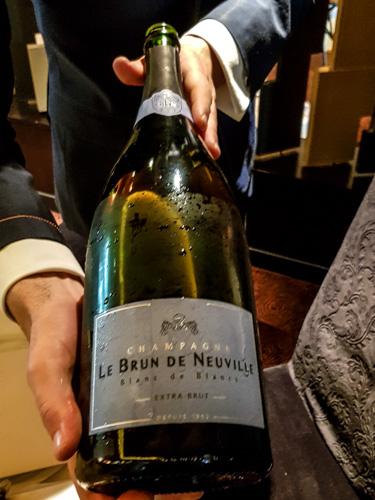 champagne grand cru Le Brun de Neuville blanc de blancs extra brut