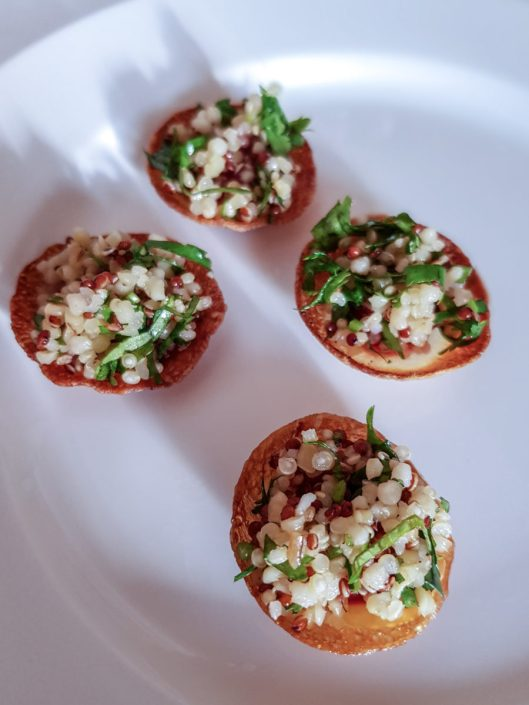 tartelettes du chef Passard au quinoa Tipiak à l'Arpère