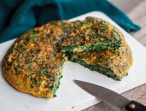 Trouchia omelette aux feuilles de blette niçoise