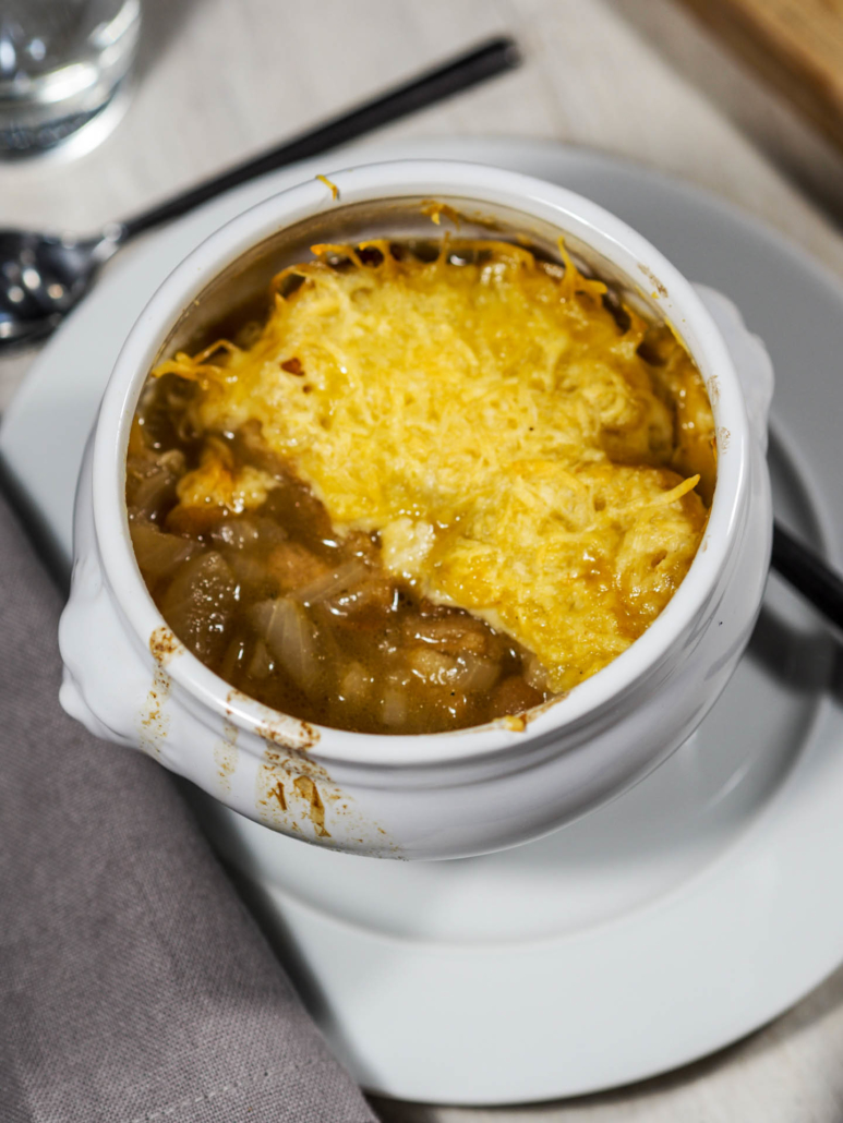 taste classic and decadent French onion soup