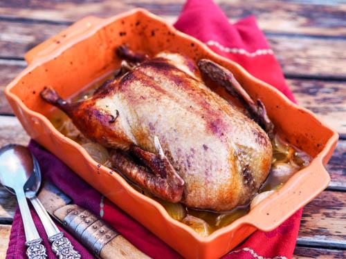 Roast Duckling with Orange Sauce in 2 Ingredients
