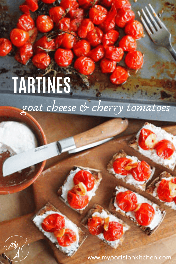 Roast Cherry Tomatoes and Goat Cheese Tartines French style