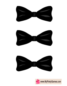 Free Printable Pin the Bow-Tie on the Groom Bridal Shower Game