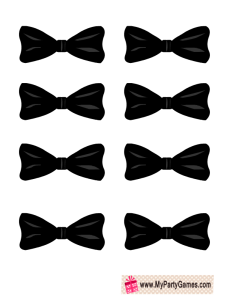 Free Printable Pin the Bow-Tie on the Groom