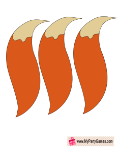 Tails Printable for Pin the Tail on Fox Game