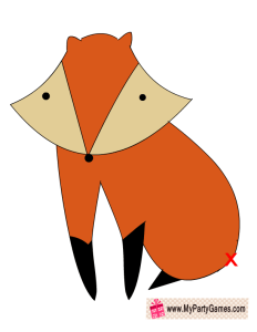 Pin the Tail on Fox Game Printable