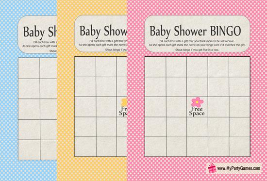Baby Shower Gift Bingo Game - Free Printable