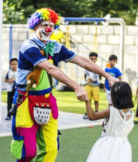 Clown act show for Birthday party