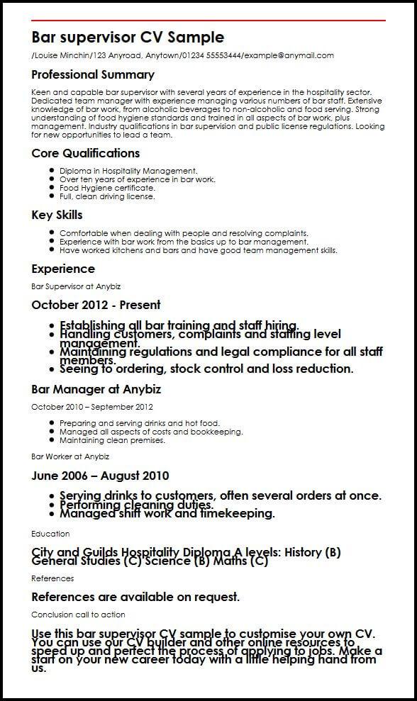 Sample Restaurant Job Application