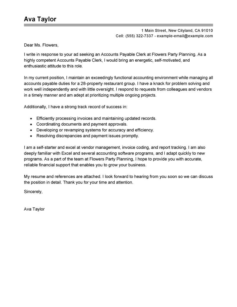 Best Tires Wheels Finance Accountant Finance Cover Letter Examples Best Accounting Clerk Cover Letter Examples Livecareer Finance Cover Letter Of Examples For