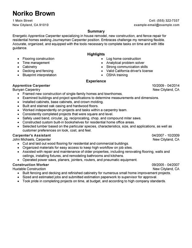 flooring resume