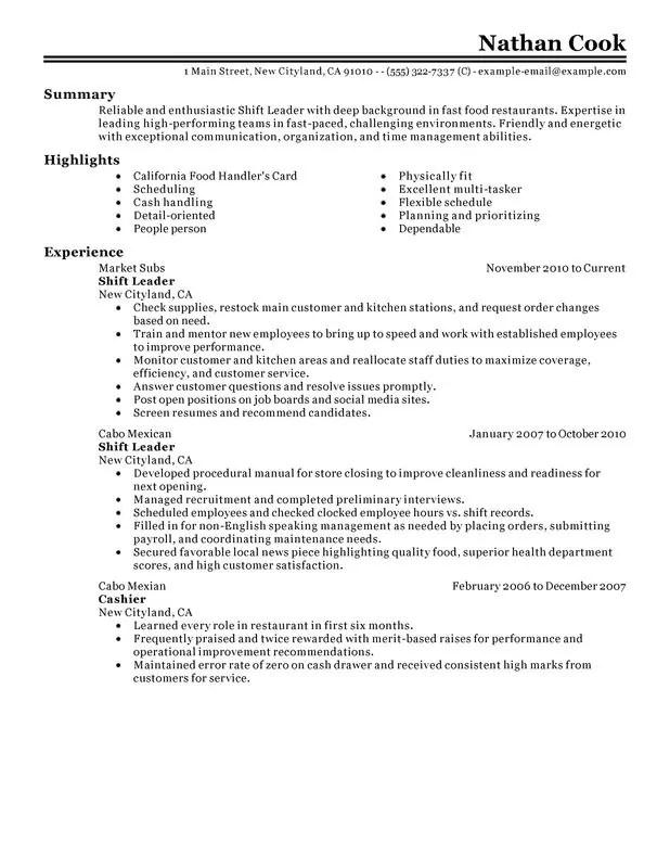 jack in the box resume