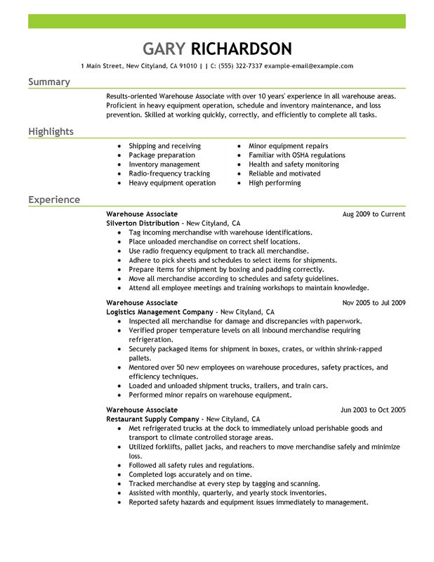 Some What Warehouse Skills Are Resume Worker