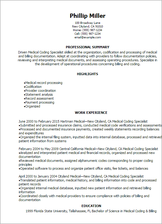 medical-coding-specialist-resume Sample Cover Letter Istant Nurse Manager on practitioner geriatric, practitioner preceptor, for dialysis, critical care, entry level, for community engagement,