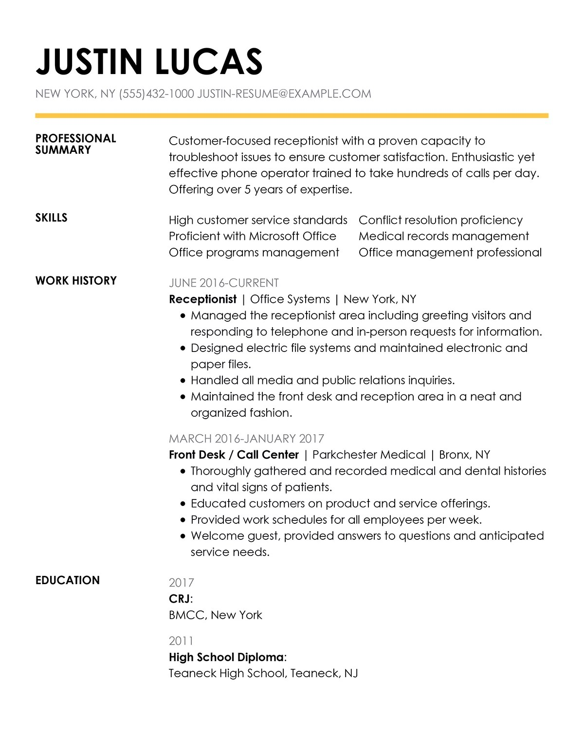 Data Entry Clerk Resume Examples Free To Try Today