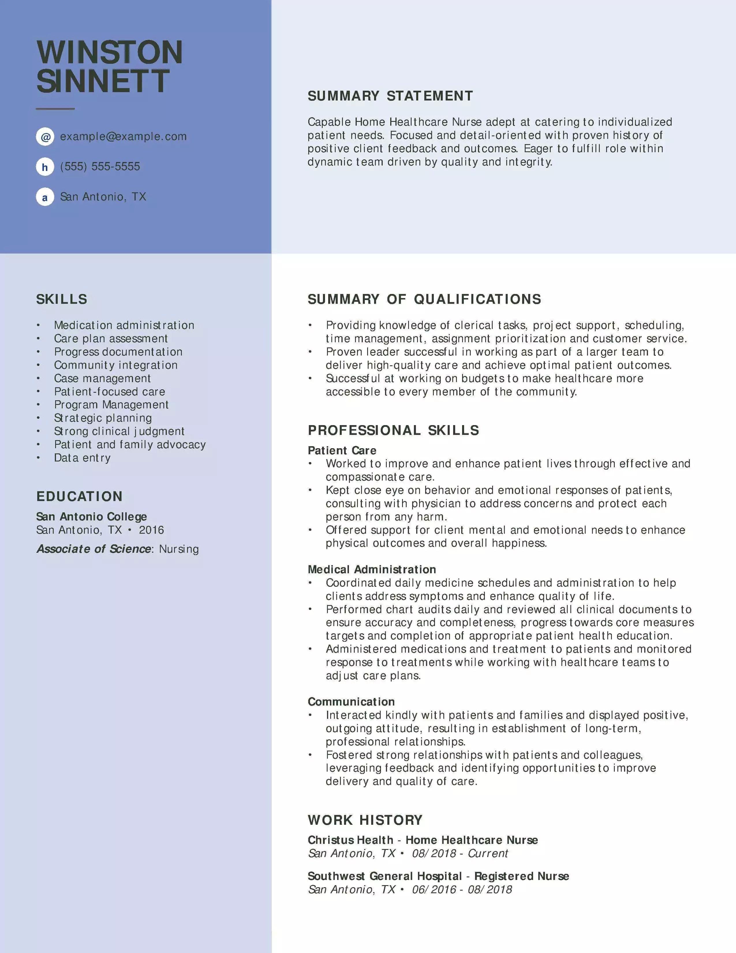 Customize Your Registered Nurse Resume With Myperfectresume