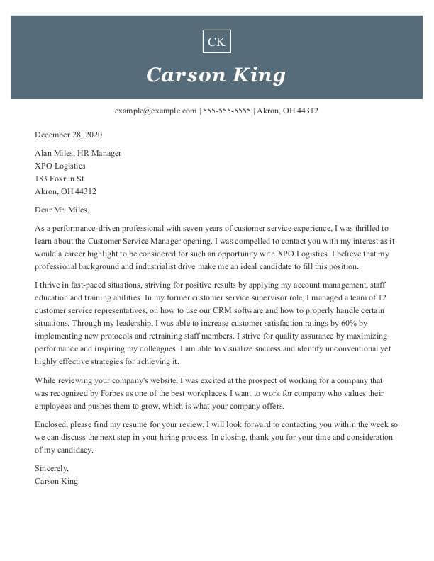 How To Format A Cover Letter Examples And Tips