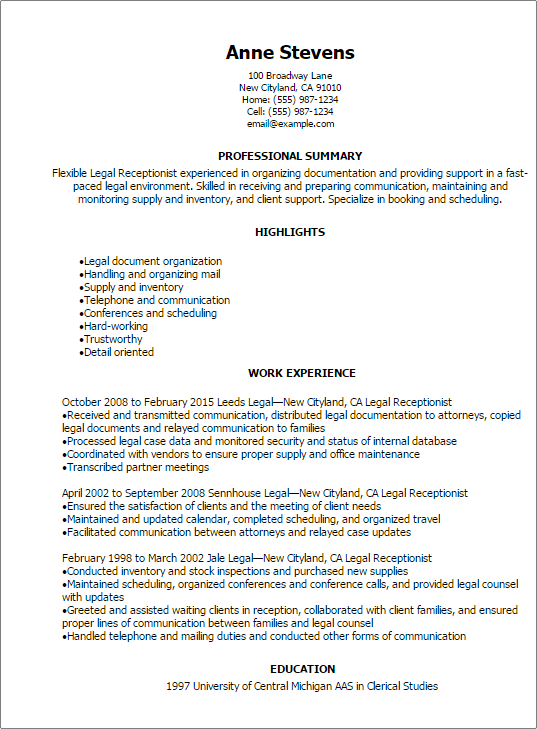 master scheduler resume examples