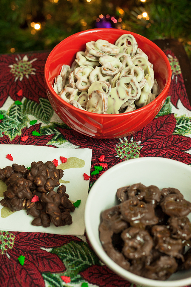 Chocolate Covered Everything!{Pretzels & Peanut Clusters}