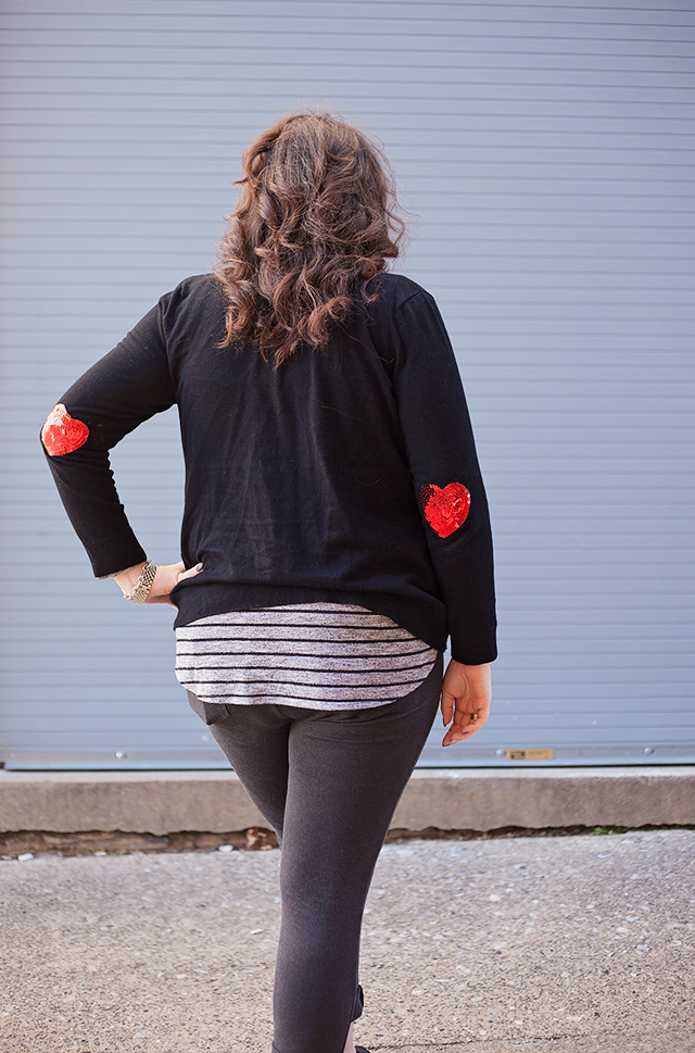 Heart Sweater Patches DIY