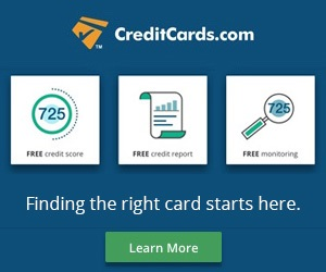 CreditCards.com Banner