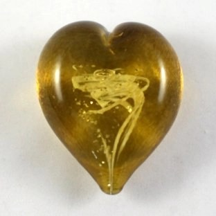 Pet Ashes into Glass Heart: Wisp Amber