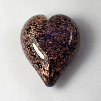 Pets Ashes into Glass: Handheld Stardust Hearts - Amethyst