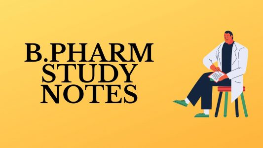 b.pharm study notes