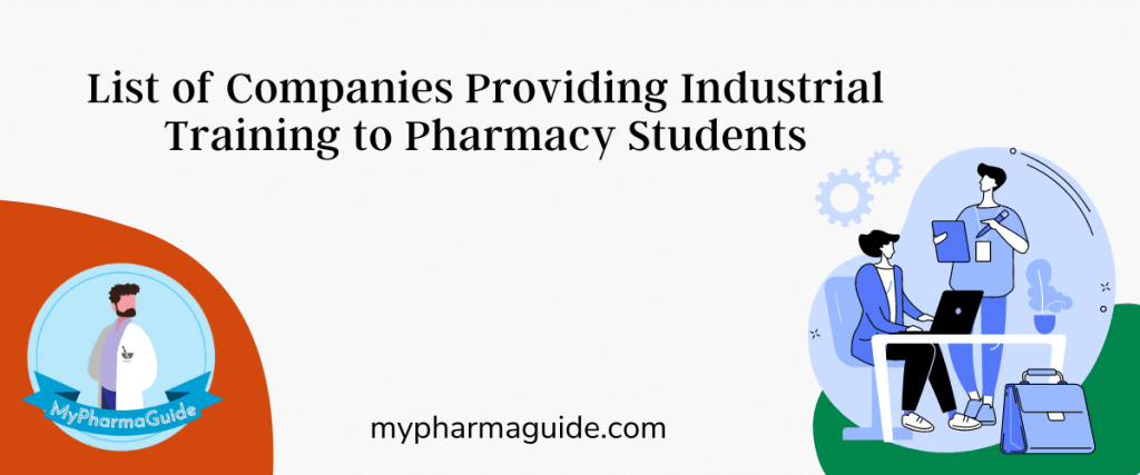 Pharmaceutical Companies for Industrial Training Certificate