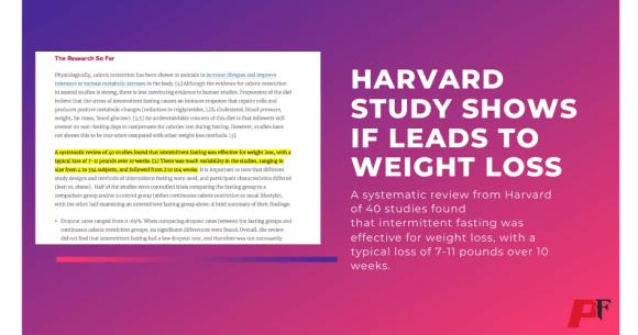 harvard study shows intermittent fasting benefits