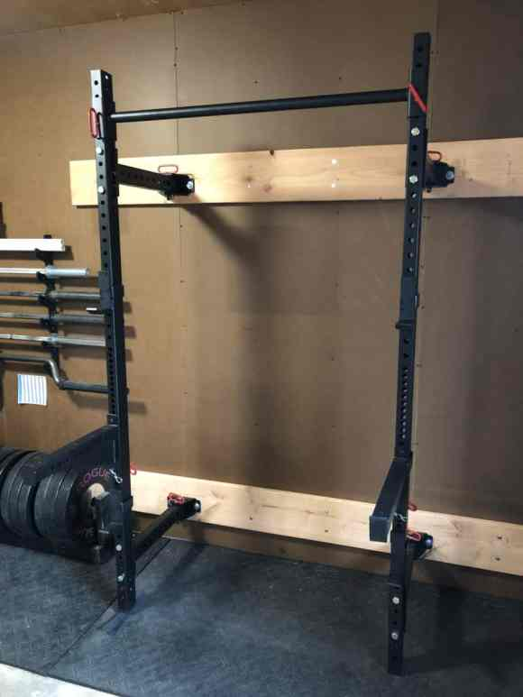 Titan fitness wall mounted squat rack