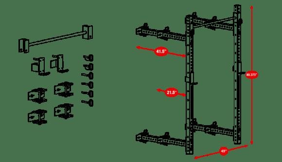 rogue squat rack west side spacing diagram