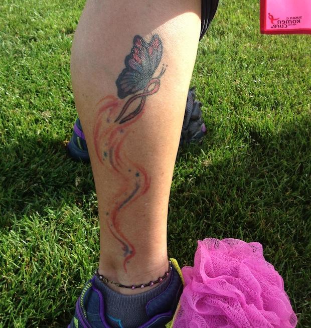 Cindy Asphalt Angel Pink Ribbon Butterfly Pink Ribbon Tattoo