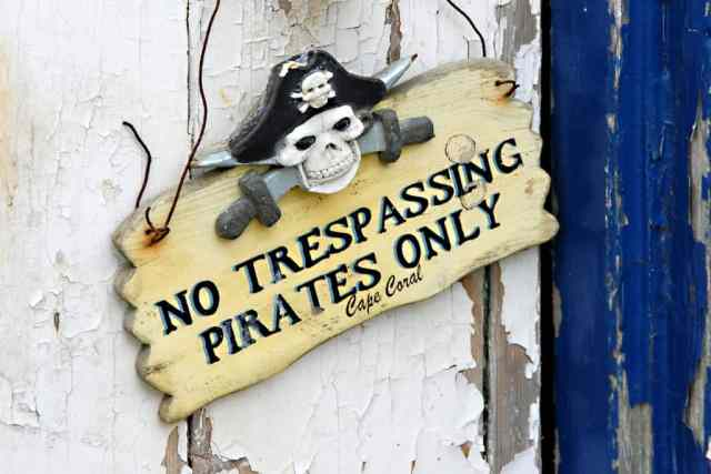 pirate party signs