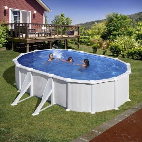 piscine hors sol atlantis ovale 527 x 327 h 132 cm filtre a sable