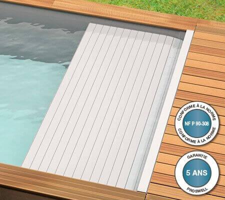 piscine bois urbaine 600 x 250 x h 133 couverture automatique