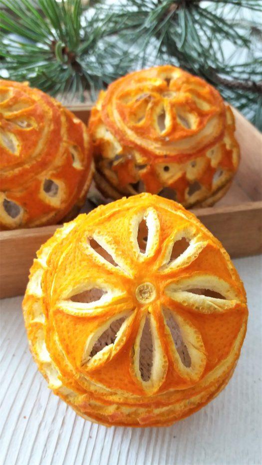 tørkede appelsiner