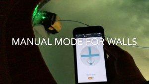 Triton PS PLUS climbing wall using Tilt mode in manual mode